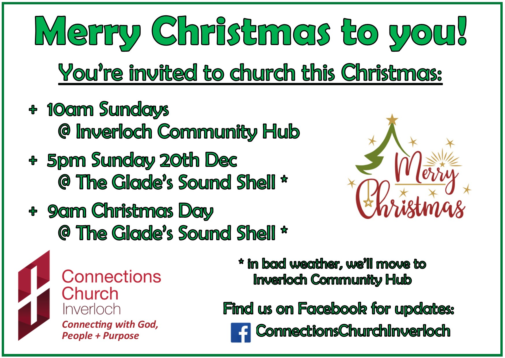 Connections Church Inverloch Christmas Invitation